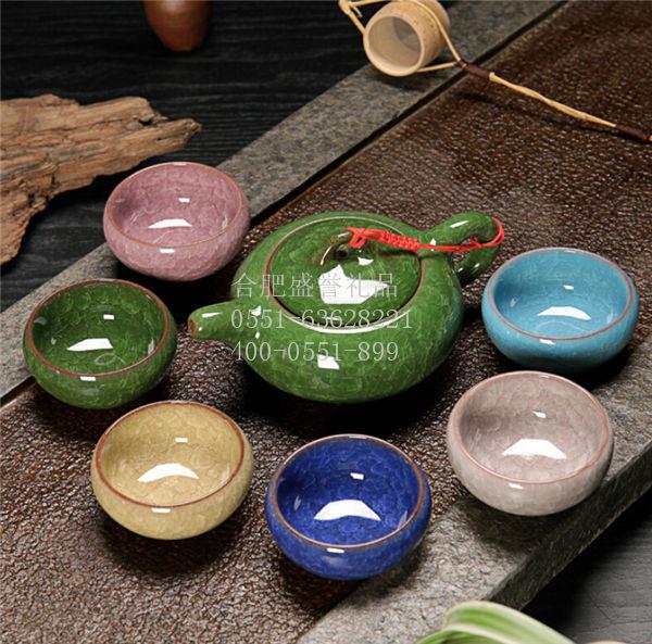 冰裂釉茶具功夫茶具陶瓷茶具套组定制LOGO